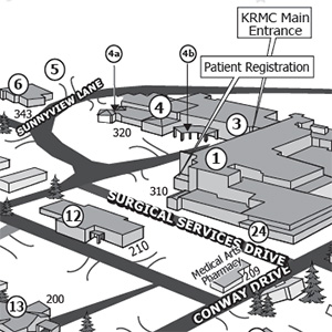 Maps and Parking - KRMC