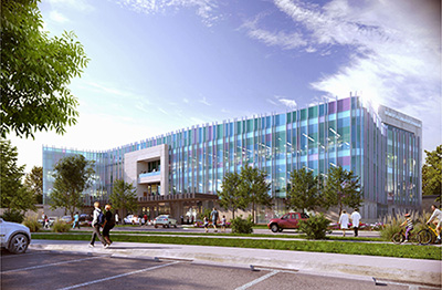 Rendering of Montana Children's pediatric facility, photo credit HKS Inc. Architecture