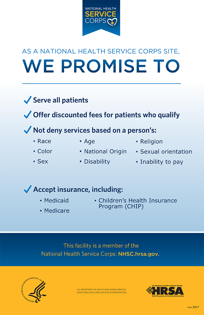 Pertinent Information Comparing National Health Service Corps Site Promise